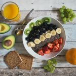 A Bowl of Essential Nutrients Rich Fruits & Drink